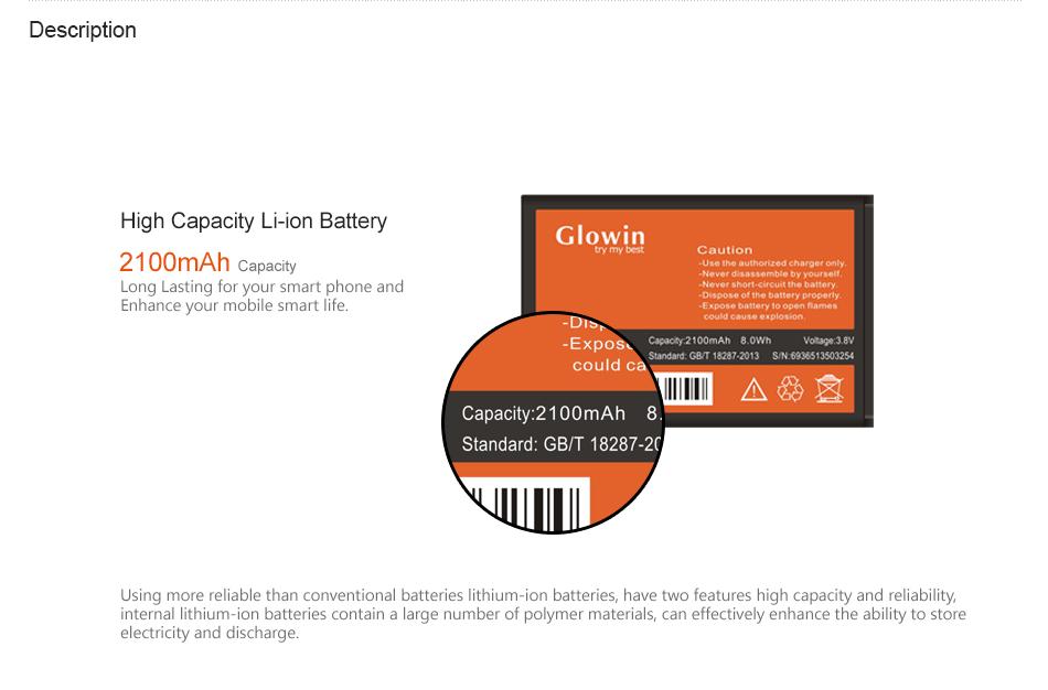 2100mAh BL-T5 Rechargeable Battery Mobile phone battery for LG Nexus4 Google4 E960 E975 E973 LS970 BLT5 F180