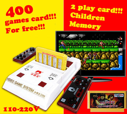video game consoles player + 400 games play card + original card two card and TV game player(China (Mainland))