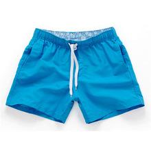 Estilo verão Men Shorts Magro Cor Sólida Placa De Fitness Calças Curtas Praia Shorts Homme Respirável Moda Praia zwemshort heren(China)