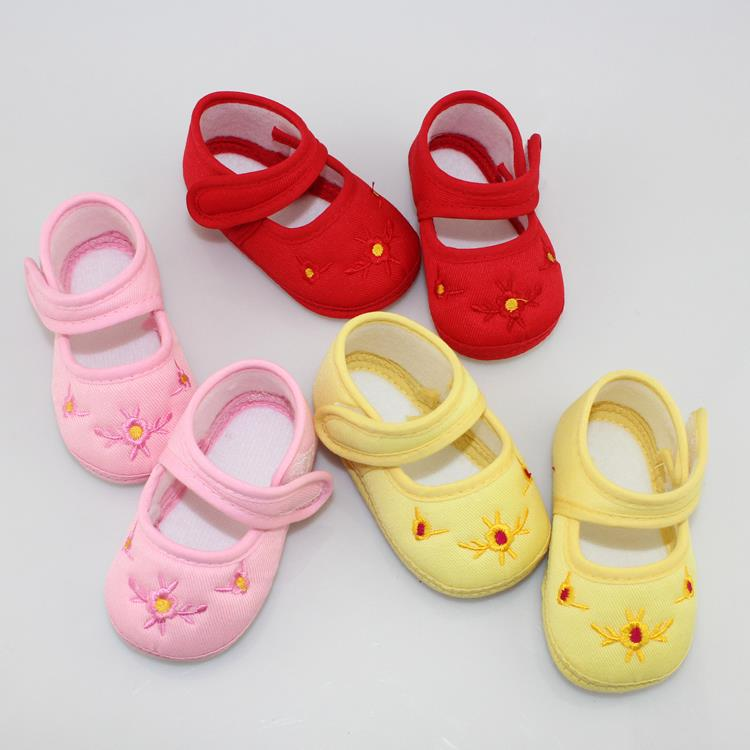 WX074 Free Shipping Promotion Baby Shoes Kids Cotton First Walkers Skid Proof Sapato Infantil Baby Girls Shoes Boys