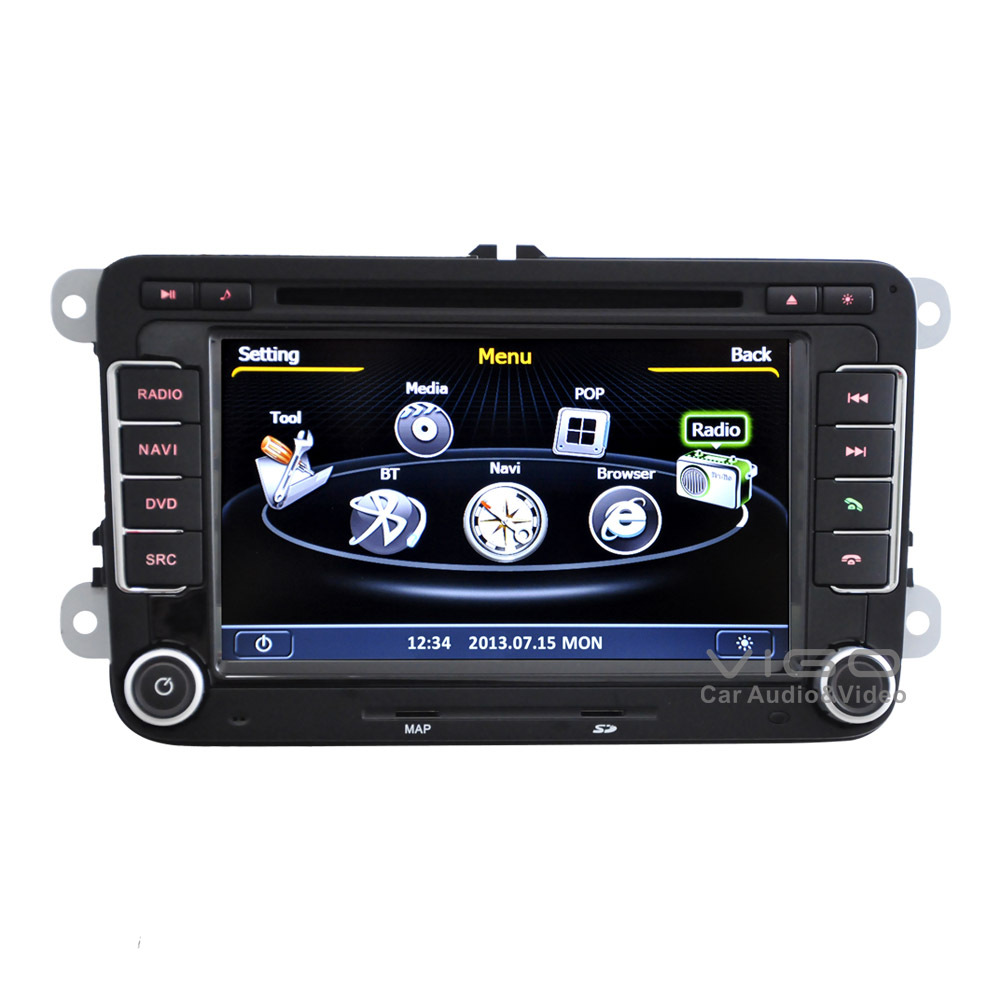 car stereo gps navigation for vw volkswagen caddy polo roomster touran octavia dvd player. Black Bedroom Furniture Sets. Home Design Ideas