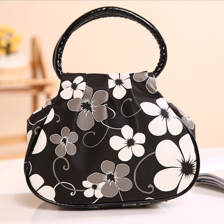 Women Girl Fashion Handbag Genuine PU Bags Shoulder Flower Pattern Purses Messenger Bag Mother's Day Gift - KATHY'S DECORATIVE HOME store
