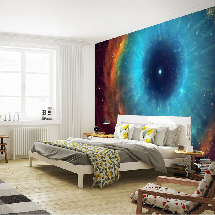 Fascinating galaxy wall mural eye nebula wallpaper silk for Ceiling mural in a smoker s lounge