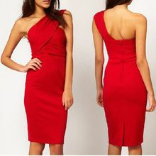 Euro Sexy Women One Shoulder Backless Dresses Fashion Ladies Party Cocktail Slim Bodycon Dress(China (Mainland))