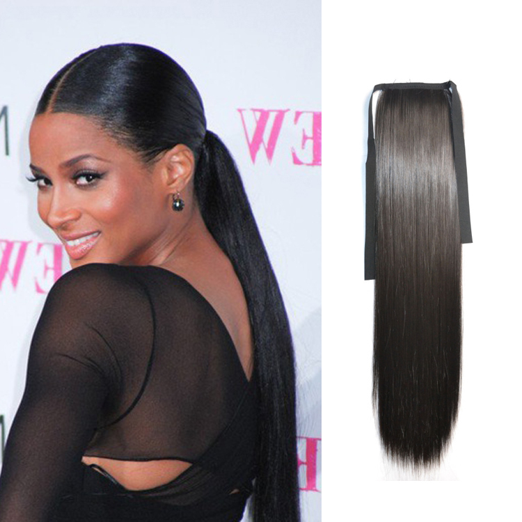 Fancy ponytail hairstyles hair is our crown hair ponytails extension straight drawstring fake hair ponytails pmusecretfo Images