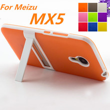 Ultra-thin PC Frame Soft Case Meizu MX5 Cover TPU Silicon Case For Meizu MX5 Matte Feel Capa Fundas Free One Film
