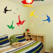 Kids Football Boots Wall Stickers Home Decor DIY Adesivo de Parede beat.headphones Decoration sticker Large size 140x80cm