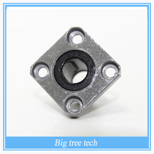 3d printer parts 4pcs LMK12UU square flange ball bearing bush for 12 mm linear guide rail rod axis cnc diy