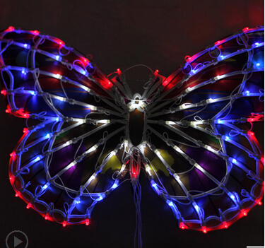 Outdoor lamp lights chandeliers wedding clothing store window decoration supplies 50 cm big butterfly bowknot activities(China (Mainland))