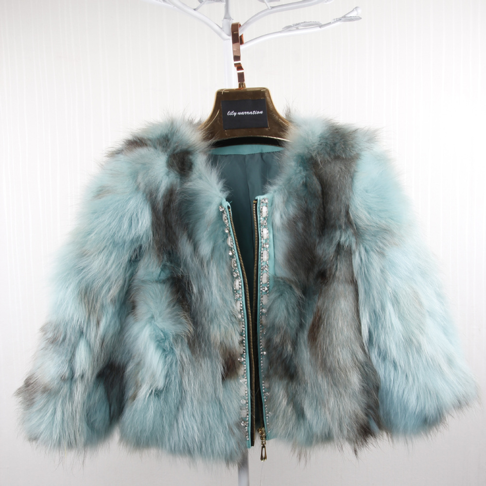 2014 Autumn Ladies' Real Natural Raccoon Fur Jackets Leather Patchwork Winter Women Short Coats Outerwear VK1432 - BESTOPPO Foreign Trade Co., Ltd. store