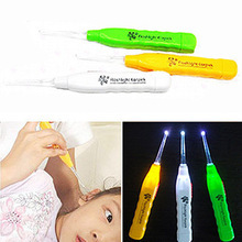 Ear Wax Remove LED Flashlight EarPick Cleaner Tool Curette(China (Mainland))