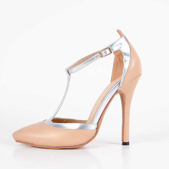 In Wedding T-tied Pointed Closed Stiletto Heels Woman Sandals Summer Sweet PU Soft Leather 2015 Strong Ankle Strap Big Size<br><br>Aliexpress