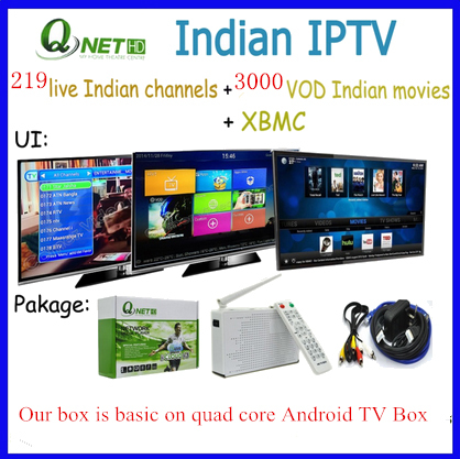 IPTV Box Indian Channels Over 200 Channels 3000 Movies in Indian IPTV Box(China (Mainland))