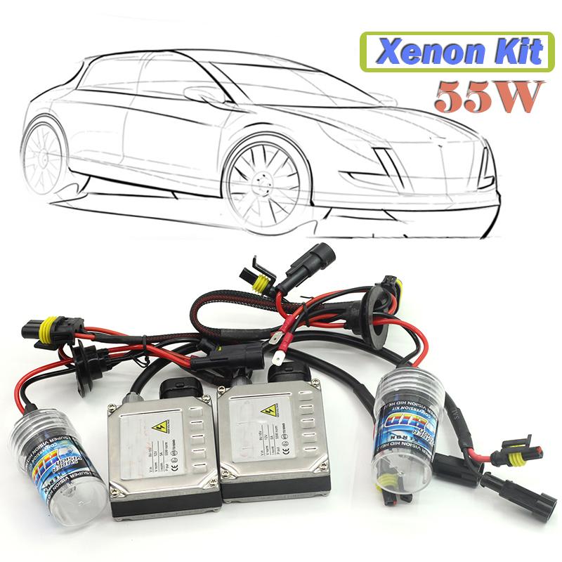 1 Set 55W H7 Xenon Ballast Bulb HID KIT 4300K-15000K Car Headlight Daytime Driving Lamp Fog Light(China (Mainland))