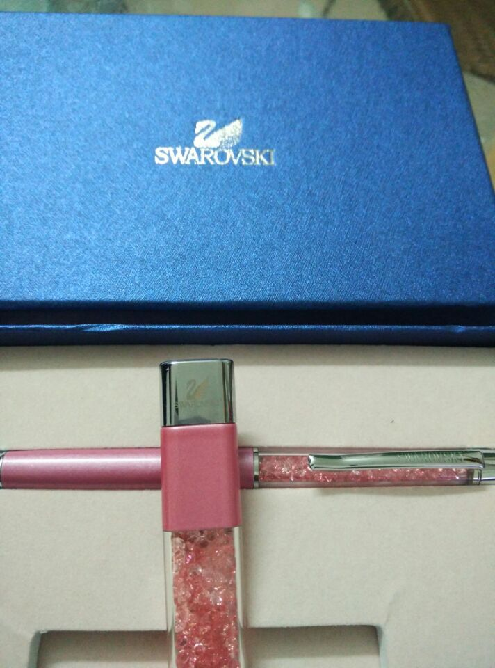 Swarovski crystal pen and 8G Usb Disk Ballpoint pen with brand gift box crystals Pen(China (Mainland))