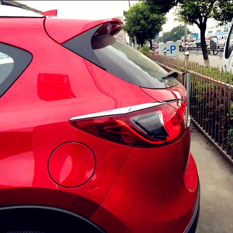 Mazda CX-5 CX 52012 2013 2014 4pcs Chrome Car Rear Tail Light Lamp Eyelid Eyebrow Molding Strip Cover Trim