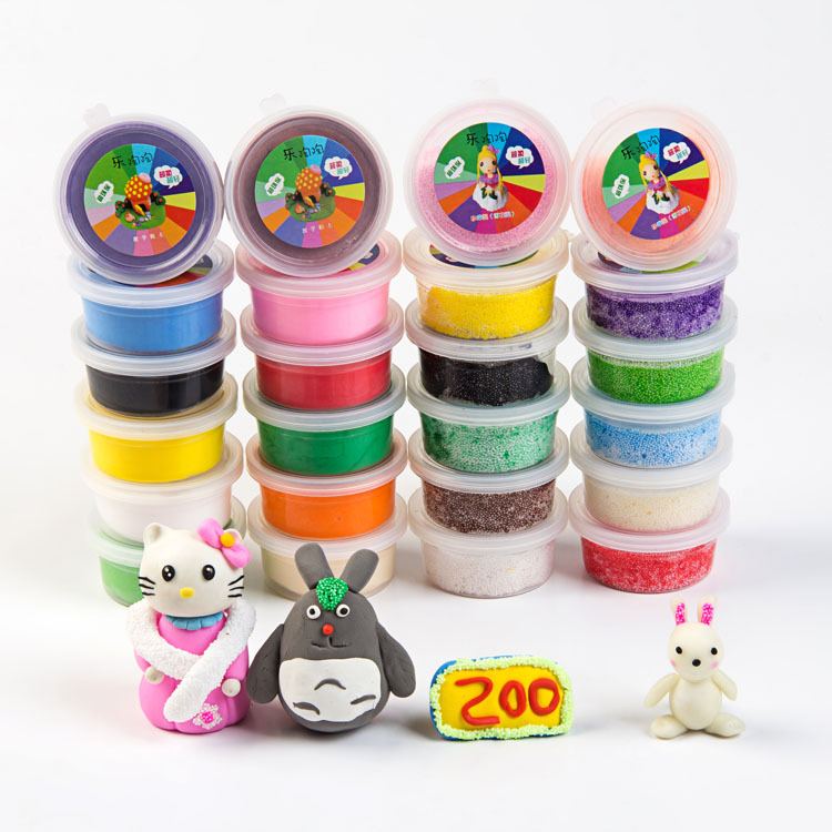 2015 New Arrival 1100g 12 Colors Ultra-light Clay & 12 Colors DIY 3D Magic Snow Clay 3D Sets Children Space Educational Toy(China (Mainland))