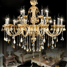 Top K9 Luxury Crystal Chandelier 12+6 Arms For Bedroom Dining Room Living Room Lighting Fashion Crystal Lamp(China (Mainland))