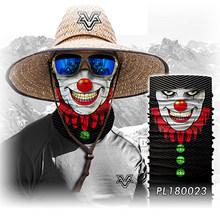 BJMOTO зимняя 3D Череп Бандана Маска для лица банданы шарфы велосипедная бандана человеческое лицо на открытом воздухе шарфы бесшовные Череп Б...(China)