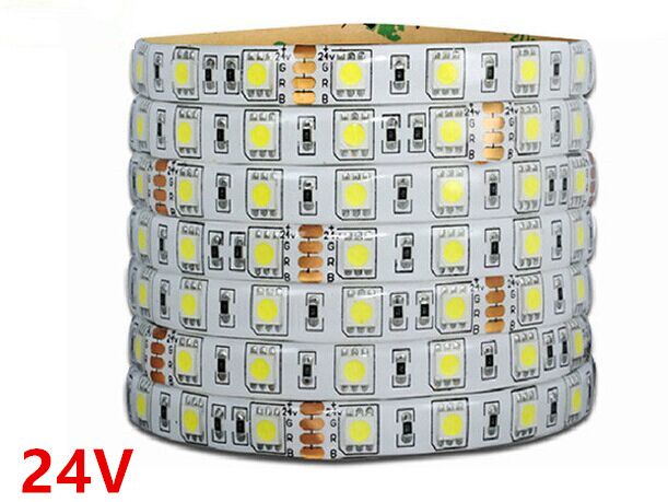 DC24V Waterproof /No-Waterproof strip Led 5050 5M/roll 60led/M flexible led ribbon outdoor decoartion Warm/White/RGB 5M(China (Mainland))