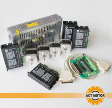 Free Ship From Germany!ACT 4Axis Nema17 Stepper Motor 17HS3404 2800g-cm 4-Lead 0.4A Bipolar+Driver DM420 1.7A 36V 128Micro+Power