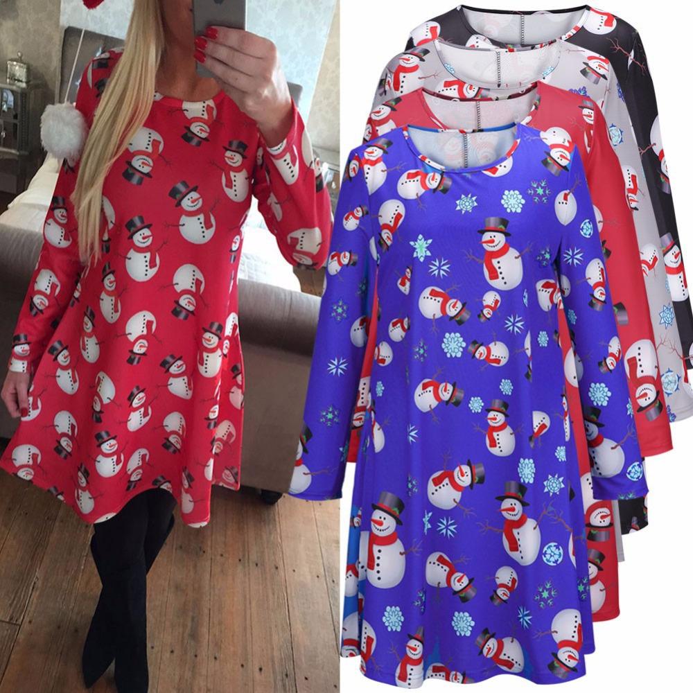 Christmas Dress Plus Size Swing