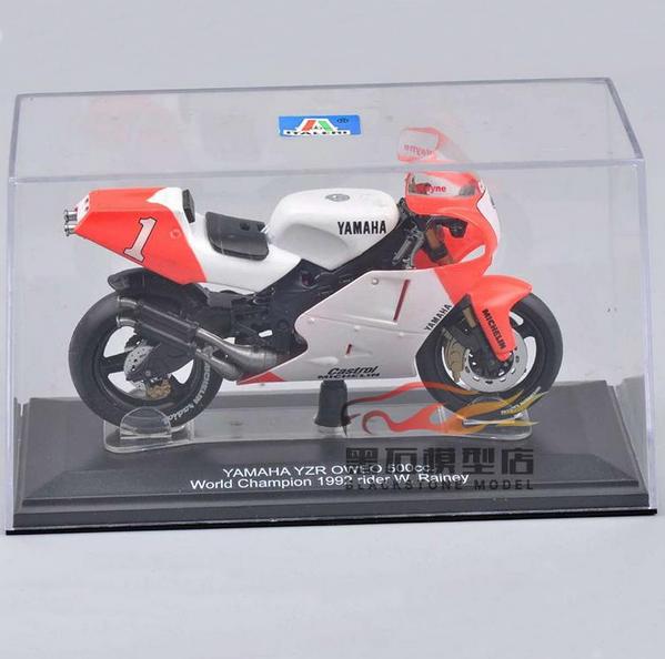 Free Shipping Motorcycle Model YAMAHA YZR OWEO 500cc. Italeri Moto Toy Mini 1/22 Scale World Champion 1992 rider W. Rainey Toys(China (Mainland))