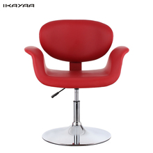 IKAYAA Modern Ergonomic Adjustable PU Leather Salon Barber Chair Stool Padded Pneumatic Haidresser Chair(China (Mainland))