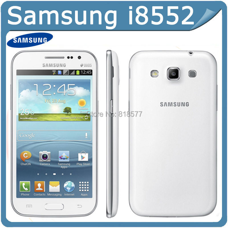 Original Phone Refurbished Samsung Galaxy Win I8552 Android 4.1 ROM 4GB RAM 1GB Wifi GPS Quad Core Unlocked Cell Phones 4.7''(China (Mainland))