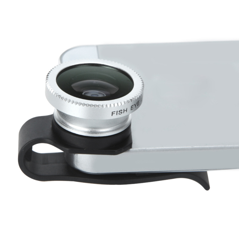 Universal Detachable  Clip-on 180 Degree Telephoto Fisheye Lens for iPhone 4 4S 5  Fish Eye Photo Kit