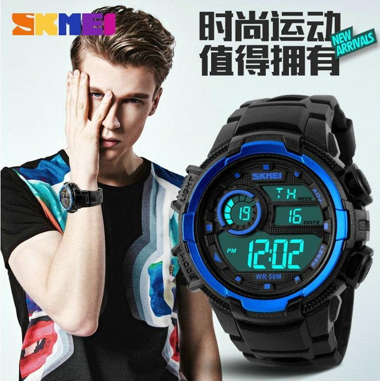 Skmei цифровой будильник ночник спортивные часы он мужской девушка водонепроницаемые СВЕТОДИОДНЫЕ электронные часы для детей