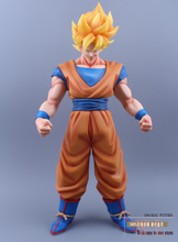 "Buy Japanese Anime Cartoon Super Big Dragon Ball Z Super Saiyan Son Gokou PVC Action Figure Collectible Cartoon Toy 18.5"" 47cm for $47.87 in AliExpress store"