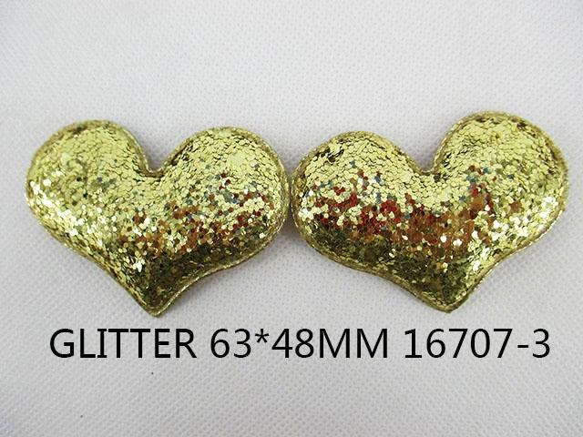 10Y16707 freeshipping 63*48mm glitter heart diy Girls Headwear headbands accessories(China (Mainland))