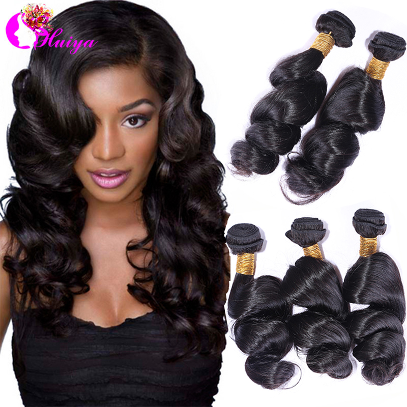 6A Virgin Unprocessed Peruvian Loose Wave Virgin Hair 3 Pcs Lot,Cheap Peruvain Virgin Wavy Hair Weave Bundles 100% Human Hair