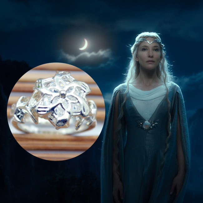 High Qulity Movie The Hobbit The Lords Of The Ring Silver Honeysuckle Flower Fairy Queen Street Jewelry(China (Mainland))
