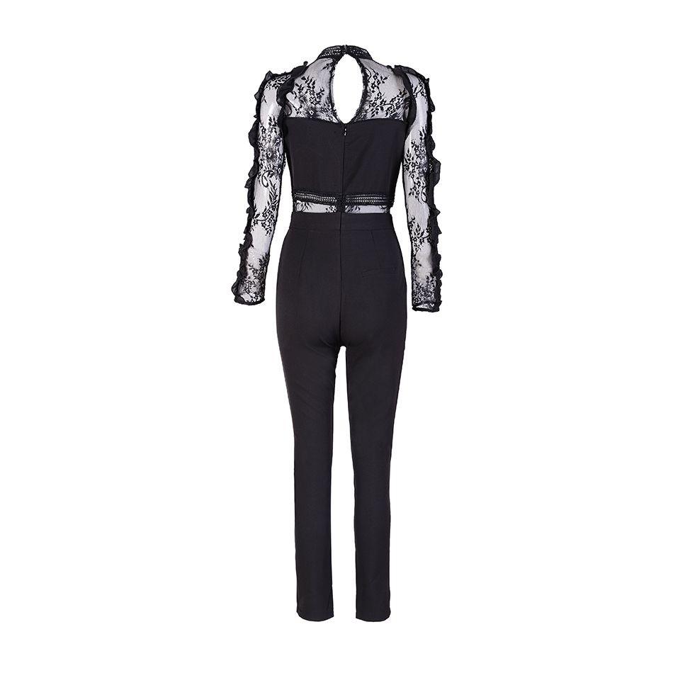 9fccec36b2ee 2019 Wholesale 2017 Summer Jumpsuit Women Full Length Black High ...