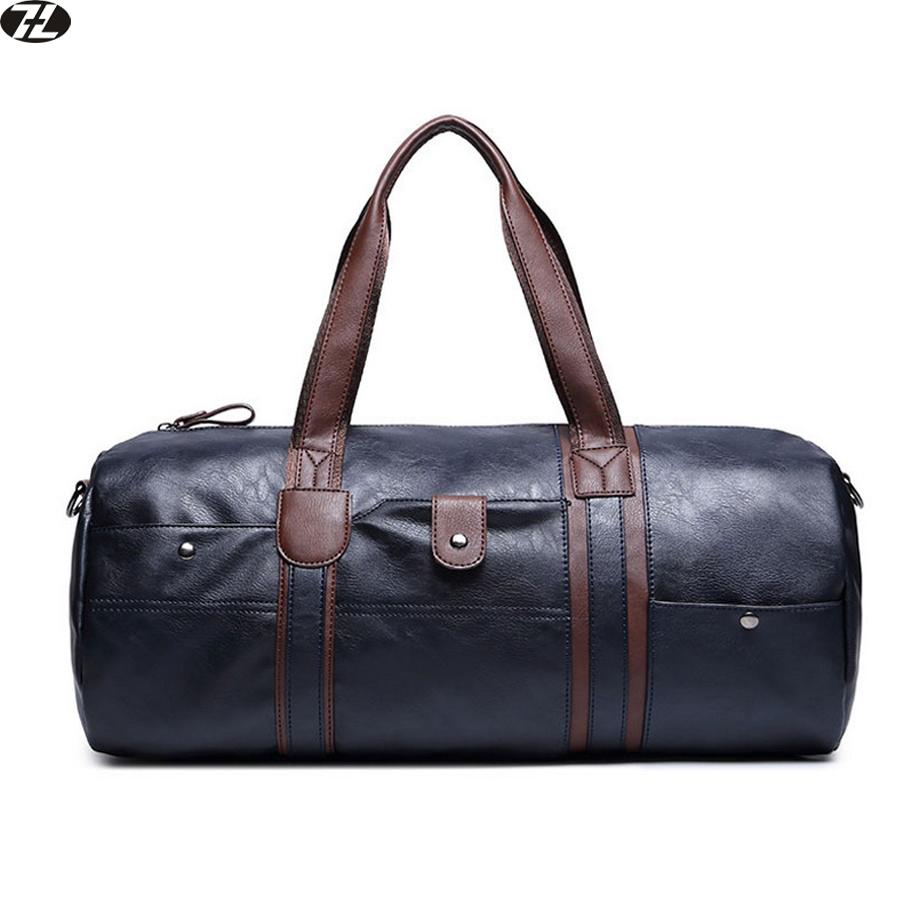 men travel bag leather high quality men crossbody duffel bag vintage tote handbag outdoor men messenger shoulder Laptop bag(China (Mainland))