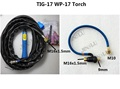 Gas Electric Seperate Dinse Connection WP 17 WP 17 Tig Torch Complete Package 4M 12Feet for