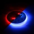 86mm Blue Red 2 Color Badge Emblem 4 LED Background LOGO Light Sticker Brake Driving Light