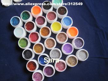 Free Shipping 8mlx30pcs Glitter  Colour uv gel / Uv gel Set / 30colour/set / Builder Gel #UGM30g