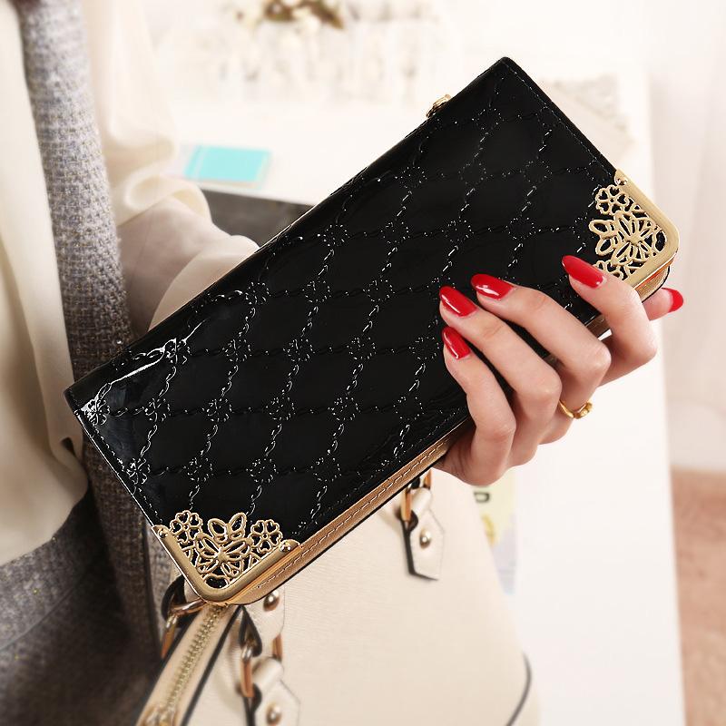 Fashion Ladys Women Zip Bag PU Long Purse Clutch Wallet Credit ID Card Holder L09584<br><br>Aliexpress