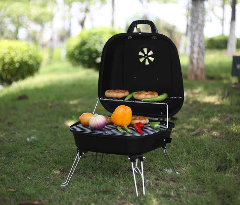 2015 Steel Outdoor kitchens Folding Portable Charcoal BBQ Grill Camping Hiking Picnic coal Grill(China (Mainland))
