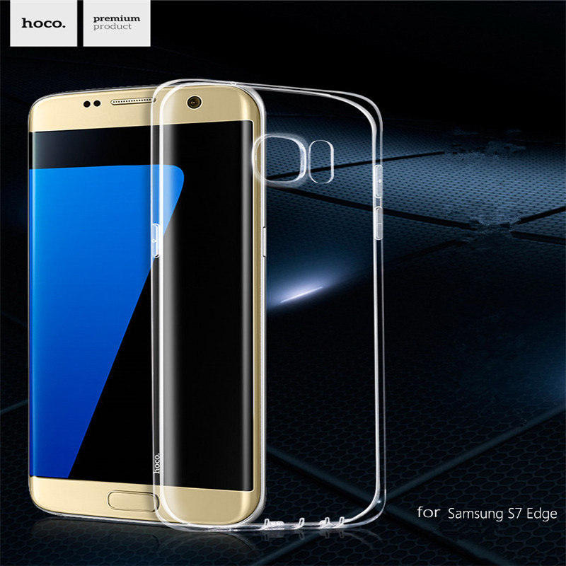 HOCO Light serial Transparent TPU Cover for Samsung Galaxy S7 Edge (5.5)Anti-knock and with Dust Plug Surround Germany basf Case(China (Mainland))