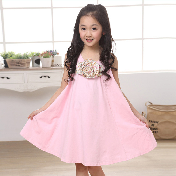 New 2016 Baby Girl Summer Dress Girls Fashion Sundress Casual Party Dress Kids Vest Dresses 66clear(China (Mainland))