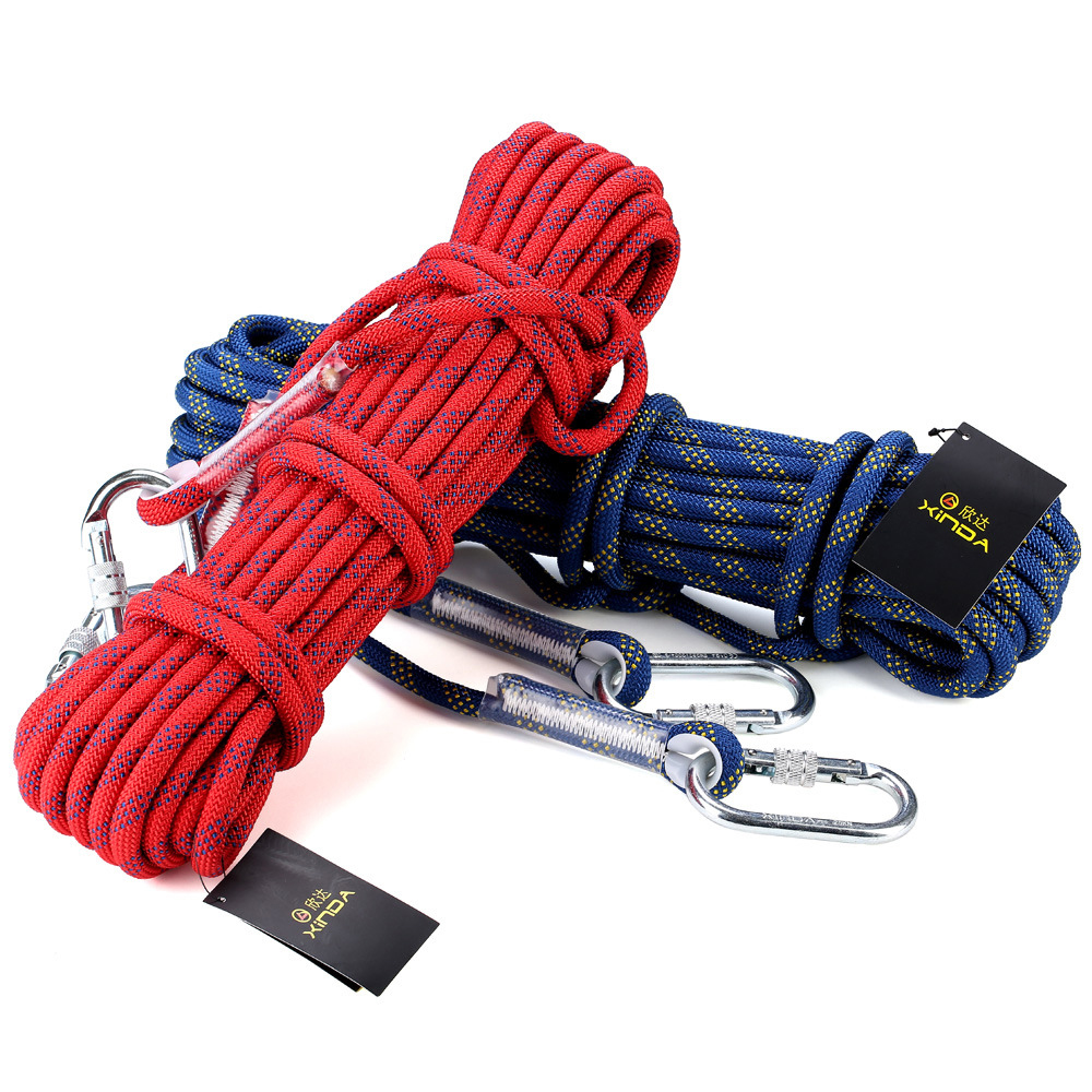 10 meters Professional Rock Climbing rope 32 KN 12mm Diameter Downhill rope Nylon Cord Safety ropes Aerial Work rope L-XDQJ-68(China (Mainland))