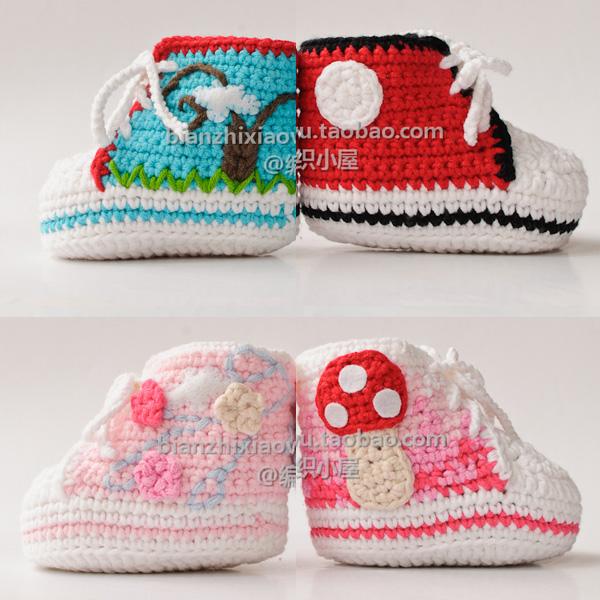 Crochet beb 234 sapatilhas do beb 234 sapatos de gin 225 stica kit material