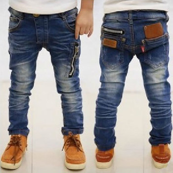High Quality Children's Jeans For Boys Kids Pants Clothing Fashion Babies Zipper Denim Trousers Clothes Roupas Infantis Menino
