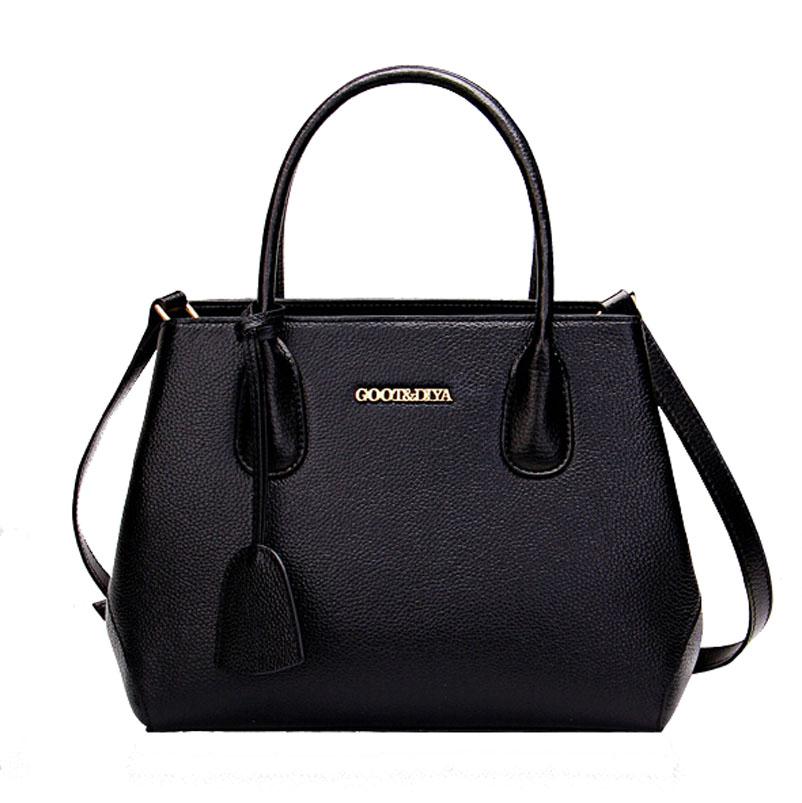 2015 New women genuine leather bag  brands luxury fashion quality Business women handbags shoulder messenger bag cowhide bag<br><br>Aliexpress