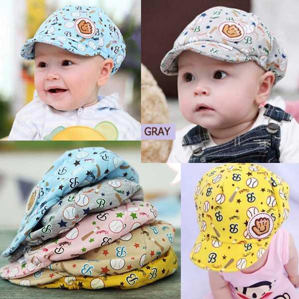 1PCS Free Shipping Cool Kids Hats Children's Baby Cartoon 4 Color Baseball Beret Caps Cute Boy Girl(China (Mainland))