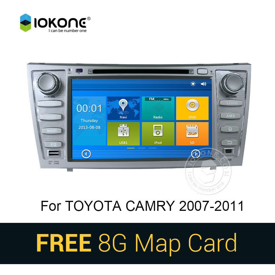 iokone car dvd video player gps navi stereo for toyota camry 2008 2009 2010 2011 with bluetooth. Black Bedroom Furniture Sets. Home Design Ideas